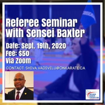 Referee Clinic by WKF Referee sensei Cleve Baxter